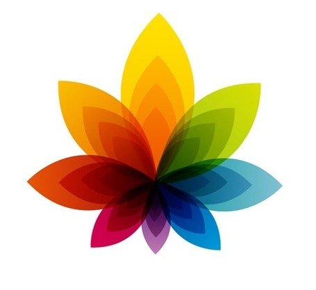 Colorful Flower Abstract Background Clipart Picture.