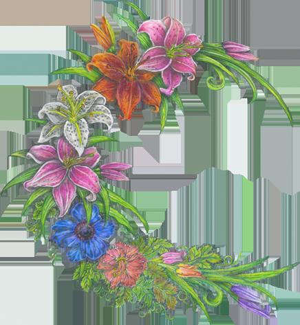 Abundance Flower Design.