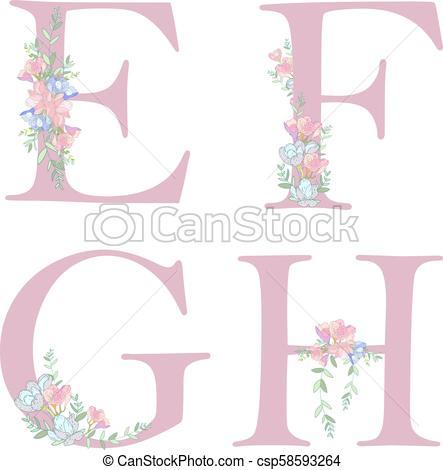 Flower alphabet letter C..