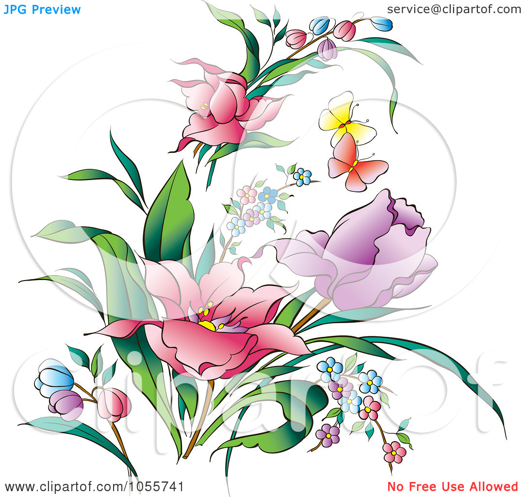 Flower and butterfly clipart 20 free Cliparts | Download ...