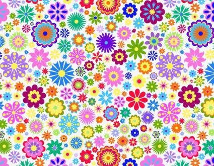 Flower Background Design Vector Illustration.