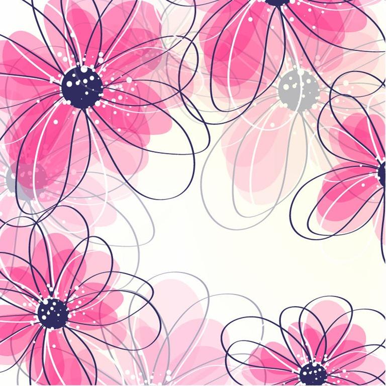 Clipart flower background.
