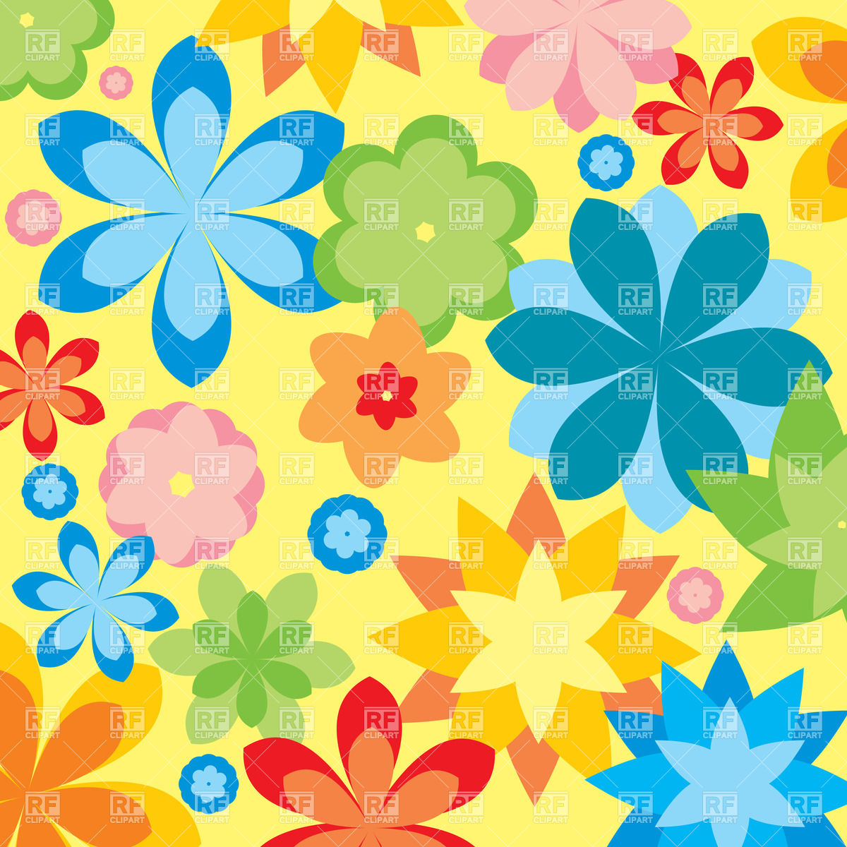 Free Flower Background Clipart.