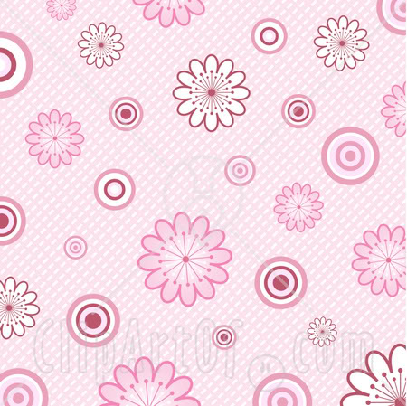 Pink Flower Background Clipart.