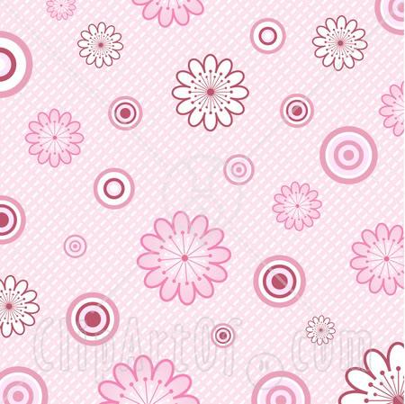 Pink Flower Background Clipart.