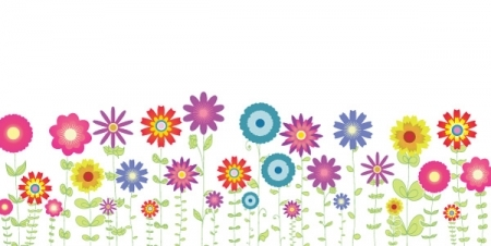 Spring flowers background clipart.