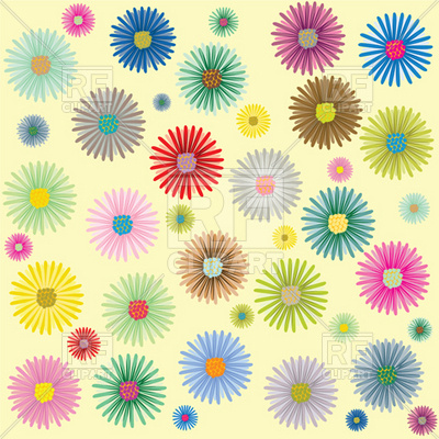 Flowers background Stock Vector Image.