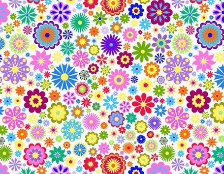 Flower Background Design Clipart Picture Free Download.