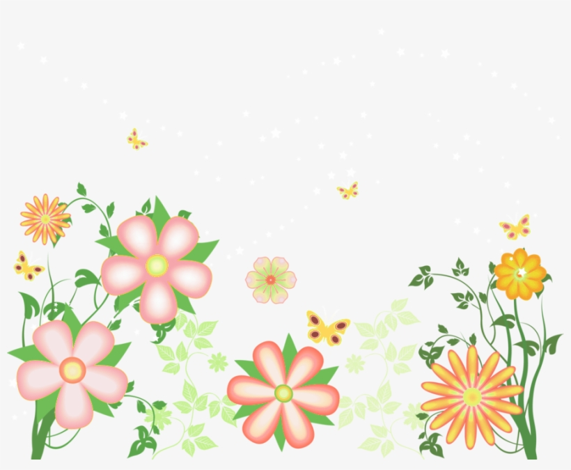 Watercolor Floral Border Decoration, Flower, Flowers.