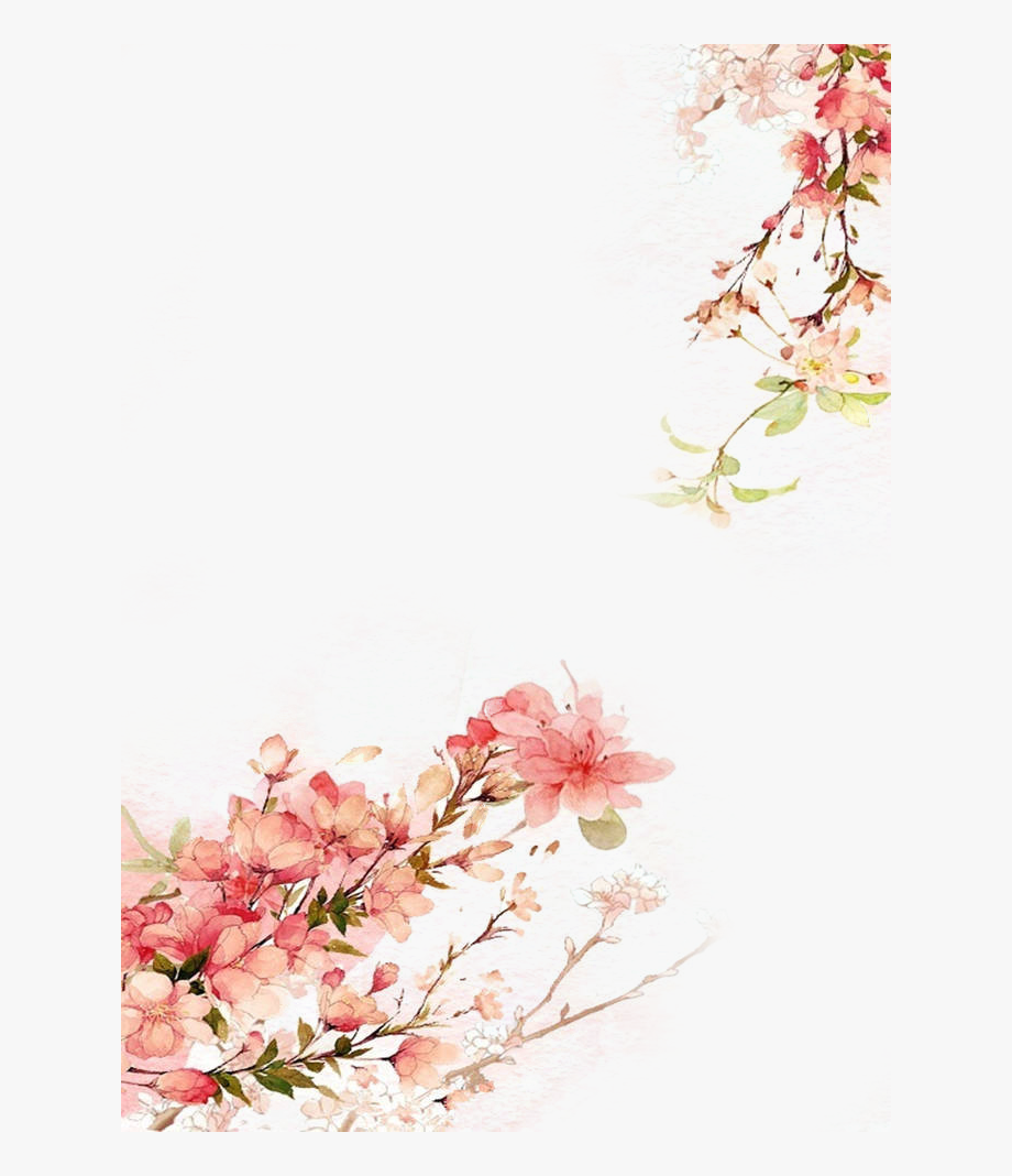Great Watercolor Flowers Background Vector, Clipart,.
