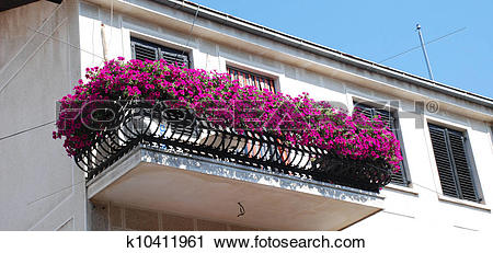 Stock Photography of flower balcony k10411961.