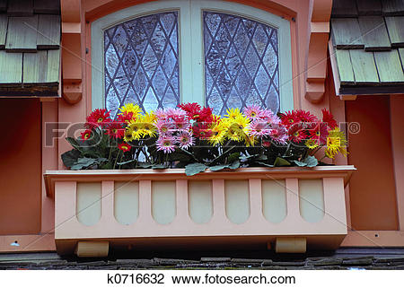 Stock Photo of Flower Balcony k0716632.