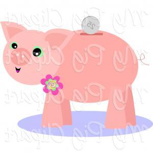 Free Broken Piggy Bank Clipart Illustration.