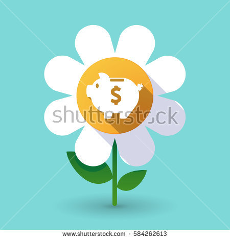 Finance Flower Icons Pink Stock Images, Royalty.