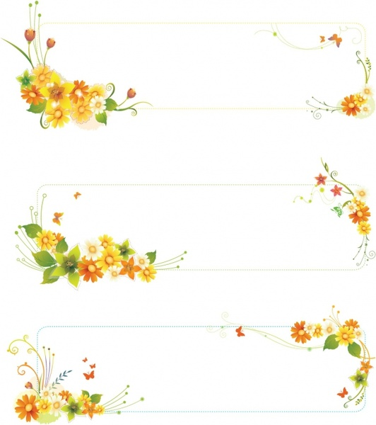 Flowers banners Free vector in Adobe Illustrator ai ( .AI.