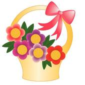 Flower Basket Clip Art.