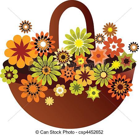 Flower basket Stock Illustrations. 4,630 Flower basket clip art.