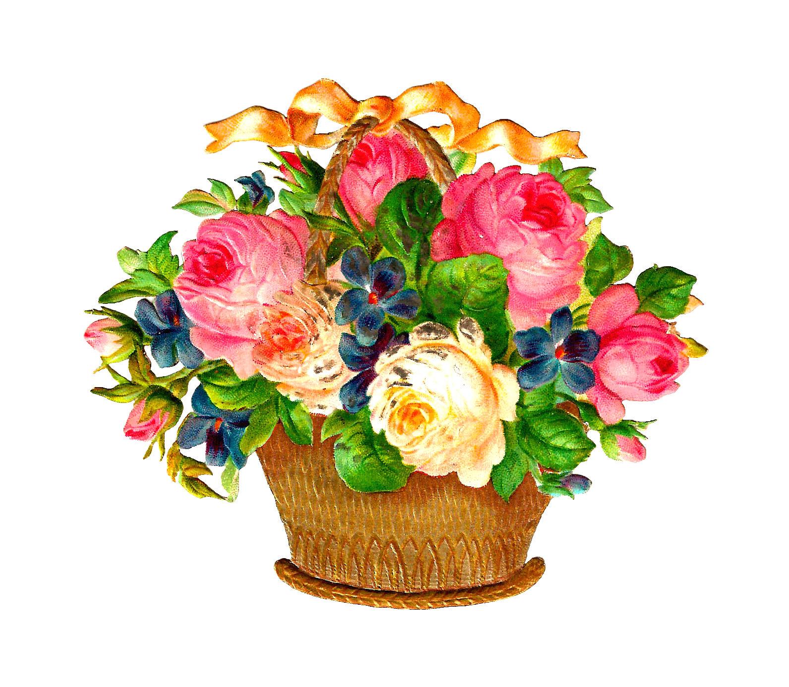 Flower Basket Clipart.