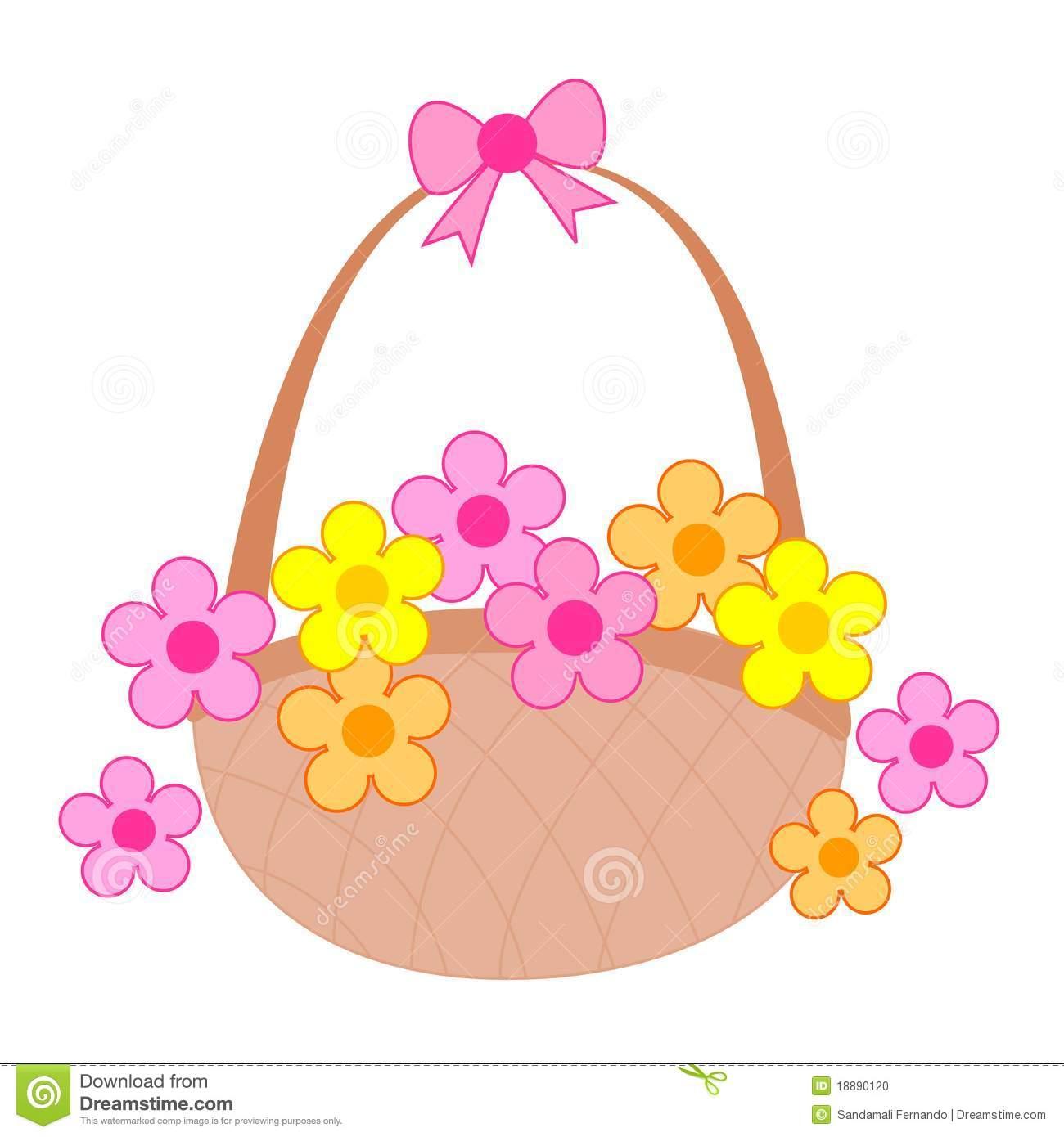 Flower girl basket clipart.