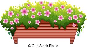 Clipart Vector of Flower bed.
