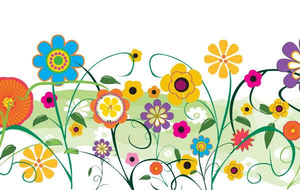 Spring Flower Garden Clipart.