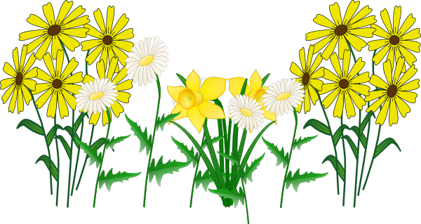 Green flower bed clipart png.
