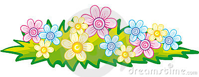Flower bed clip art.