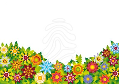 Clipart of a flower garden.