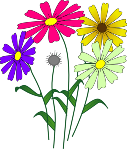 Flower With Roots Clipart.