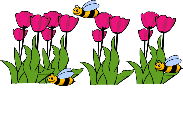Green flower bed vector clipart png.