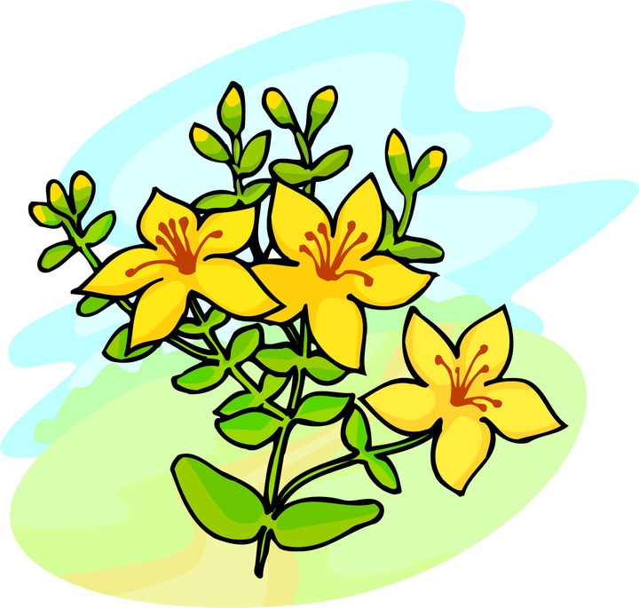 Yellow bell flower clipart.