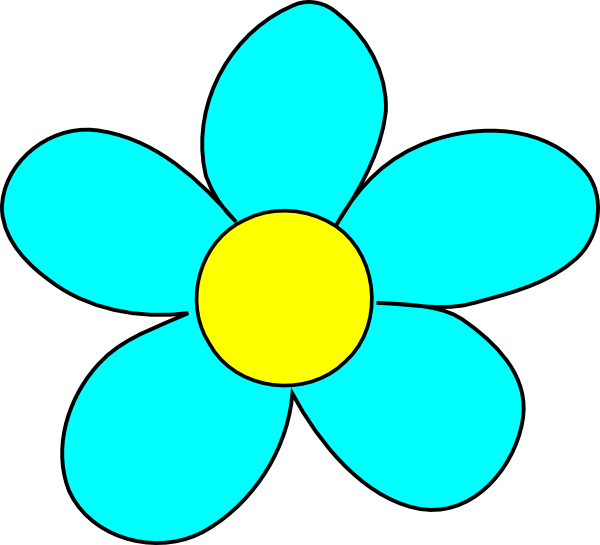 Blue Rose Flower Clipart.