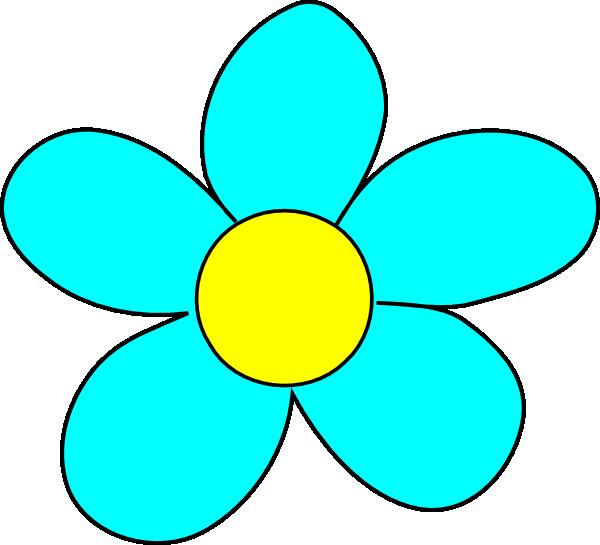 Flower blue clipart - Clipground