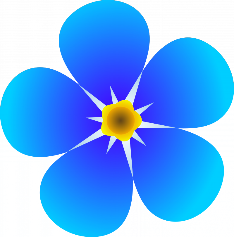 Blue Flower Clipart Free Clip art of Flower Clipart #245 — Clipartwork.
