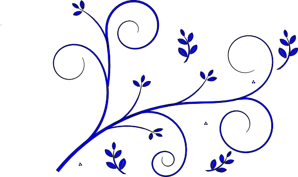 Blue Flower Design Clipart.