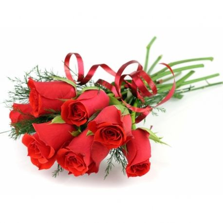 Bouquet of Long Stem Red Roses.