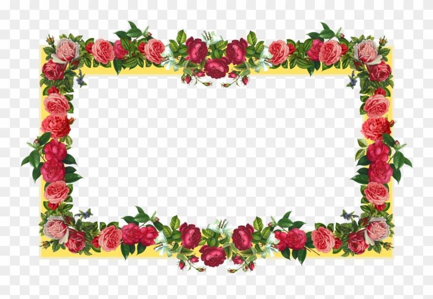 Free Flower Border Png Download Free Clip Art Free.