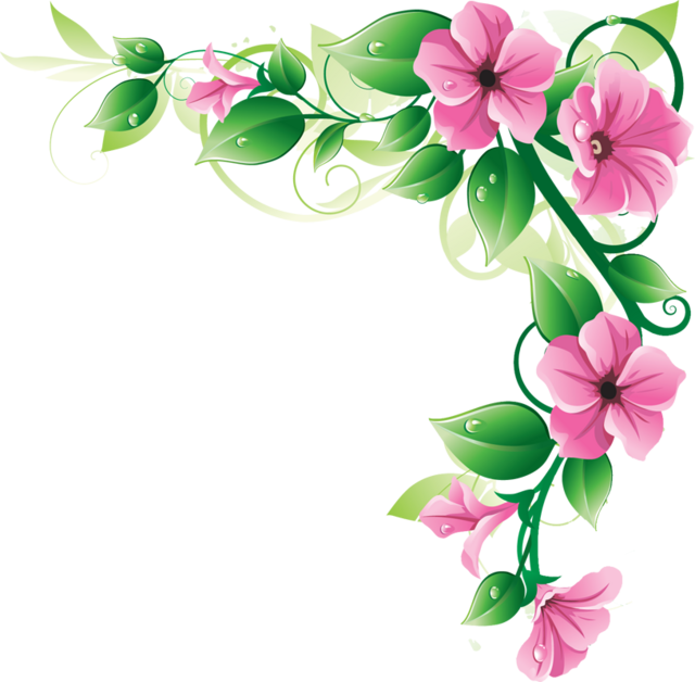 Purple Flower Garden Clipart