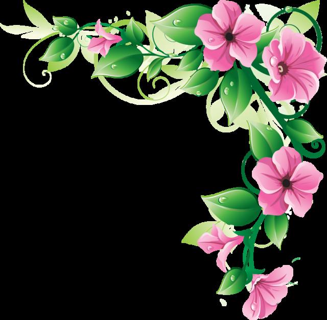 Flower Border Clipart.