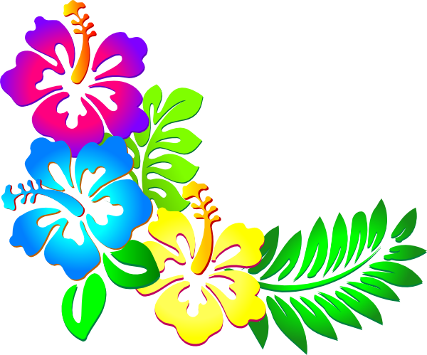 Flower border flower clip art free free flower graphic vintage.