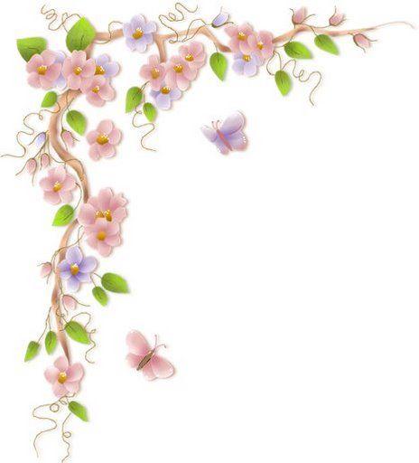 Flower Bottom Border Clipart.