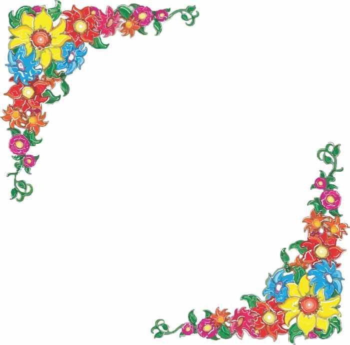 Free flower borders flower border clipart.