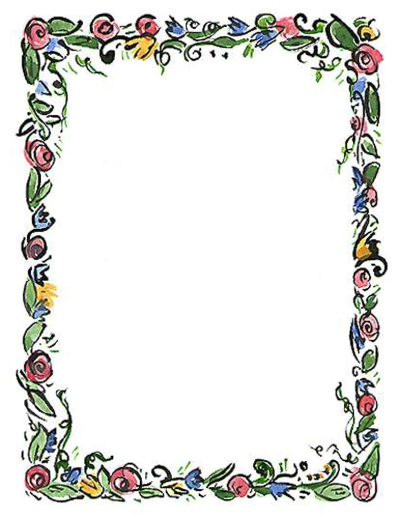 Spring Flower Border Clipart Clipart Panda Free Clipart Images.