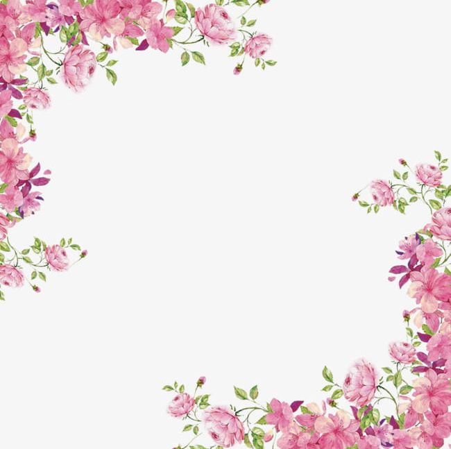 Flowers Borders PNG, Clipart, Borders Clipart, Corner.
