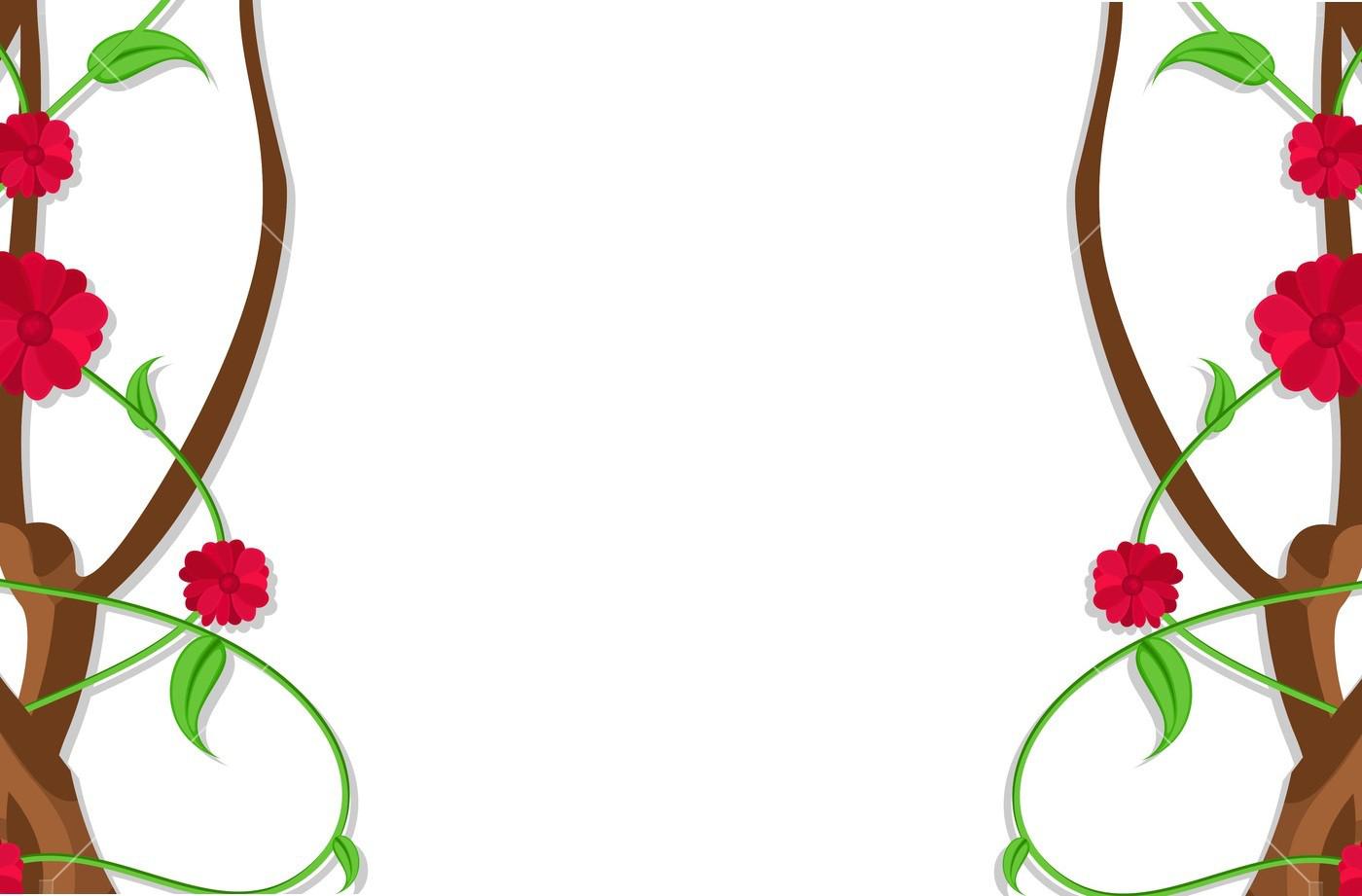 Flower Border Designs PNG Free Image Download.