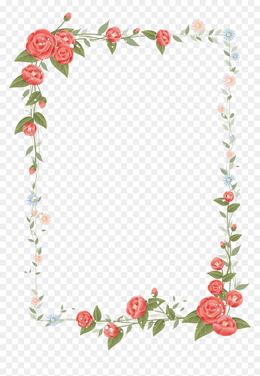 Border Flower Frame Png, Transparent Png.