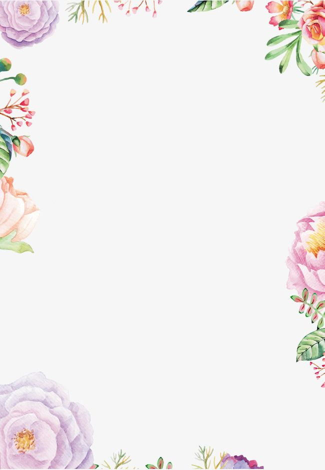 Pattern Border, Frame, Flowers, Flower PNG Transparent Clipart Image.