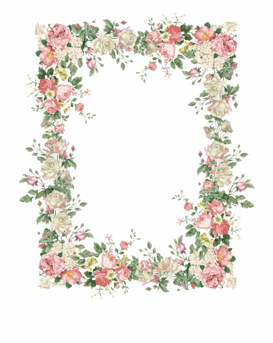 Rose Frame, Flower Frame Png, Picture Borders, Flower.