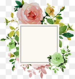 Flower Border, Flower Clipart, Frame PNG Transparent Clipart Image.