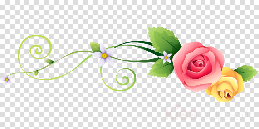 flower border flower background flower line clipart.